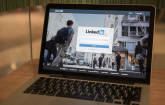 LinkedIn Web-App auf Notebook