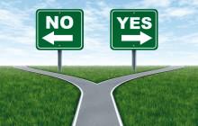 Weggabelung  Yes oder No