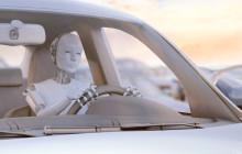 Roboter-Fahrer im Auto