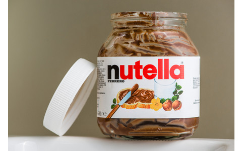 Nutella-Glas leer