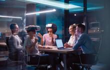 VR-Brillen in einem Meeting