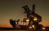 Mining Excavator im Bergbau