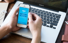 Skype-App auf dem Handy
