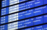 Anzeigentafel der Deutschen Bahn