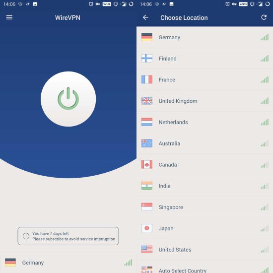 Leistungsstarke VPN-App mit WireGuard-Support - com