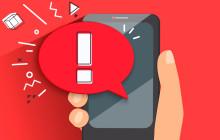 Alarm auf Smartphone-Display