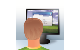 1. Tom installiert TeamViewer: Tom installiert die Vollversion des kostenlosen TeamViewer auf seinem PC. Damit kann er Lisas PC fernsteuern.