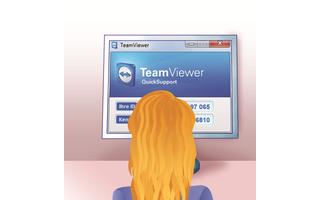 2. Lisa startet das Quick-Modul von Teamviewer: Lisa lädt das Tool TeamViewer QuickSupport herunter und startet es ohne Installation. Sie erhält eine ID und ein Kennwort.