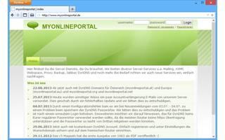 My Online Portal: Beim Dienst My Online Portal lässt sich eine Subdomain einrichten. Dafür stehen fünf Domainnamen zur Auswahl. Das kostenlose Konto muss einmal im Monat auf der Webseite verlängert werden.