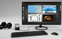 Librem 5 mit Monitor und Tastatur