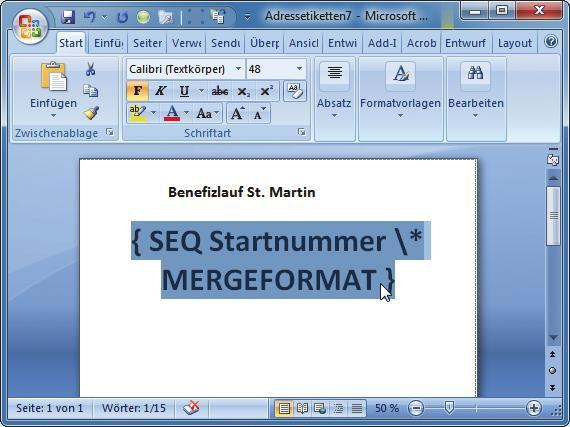 Fortlaufende Nummerierung Drucken Com Professional