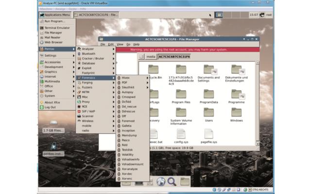 Retten Sie mit einem virtuellen PC Daten von defekten Computern. Nutzen Sie dazu in einem virtuellen PC das Analysesystem Pentoo 2013 RC 1 und eine exakte 1:1-Festplattenkopie Ihres PCs.