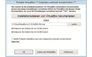 Virtuelle PCs lassen sich direkt vom USB-Stick starten. Möglich macht das ein kostenloses Zusatz-Tool, das Virtual Box als portable Anwendung auf dem Stick installiert.