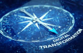 Kompass zeigt auf Digitalisierung