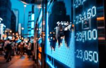 Entwicklungen an der Börse hinter Glas