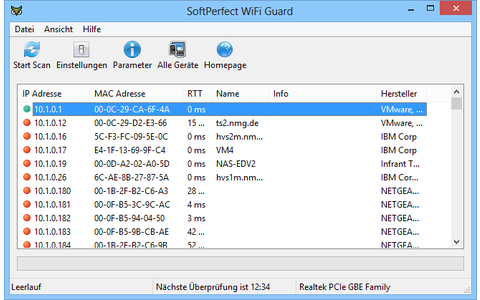 Wifi Guard überwacht Ihr WLAN und schlägt Alarm, wann immer es ein unbekanntes Gerät findet.
