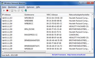 Wireless Network Watcher ist eine portable Anwendung, die alle an Ihr WLAN angeschlossenen Computer aufspürt.