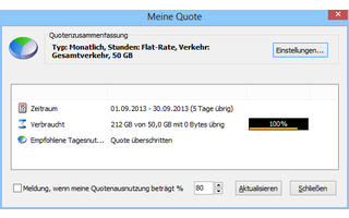 Networx überwacht die Netzwerkverbindungen Ihres PCs, misst den Datendurchsatz und warnt vor dem Überschreiten Ihres monatlichen Datenvolumens.