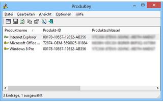 ProduKey listet die Produktschlüssel Ihrer installierten Microsoft-Programme und speichert diese in einer Textdatei.