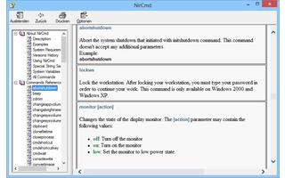 NirCmd ist ein Kommandozeilen-Tool, dessen EXE-Datei nur 43 KByte groß ist, mit dem sich aber einige mächtige Befehle ohne viel Tipparbeit ausführen lassen.