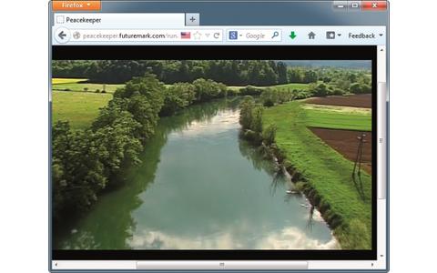 Platz 2 – Firefox: Der Browser schneidet bei vielen Benchmarks – hier bei Peacekeeper – gut ab.
