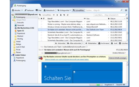 Platz 5 – Thunderbird: Große Dateien lassen sich über Cloud-Dienste versenden