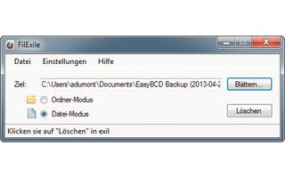 Platz 9 – Filexile: Das Tool löscht auch solche Ordner und Dateien, die sich eigentlich nicht löschen lassen