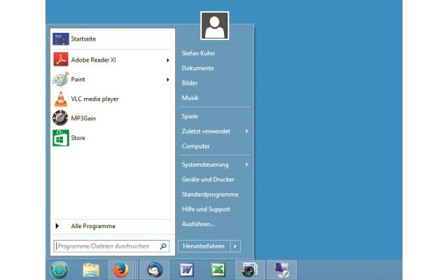 Platz 23 – Classic Shell: Damit integrieren Sie das aus älteren Windows-Versionen gewohnte Startmenü in den Desktop von Windows 8