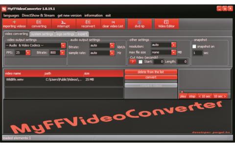 Platz 26 – MyFF Videoconverter: Damit lassen sich Videos rippen und in ein anderes Format konvertieren