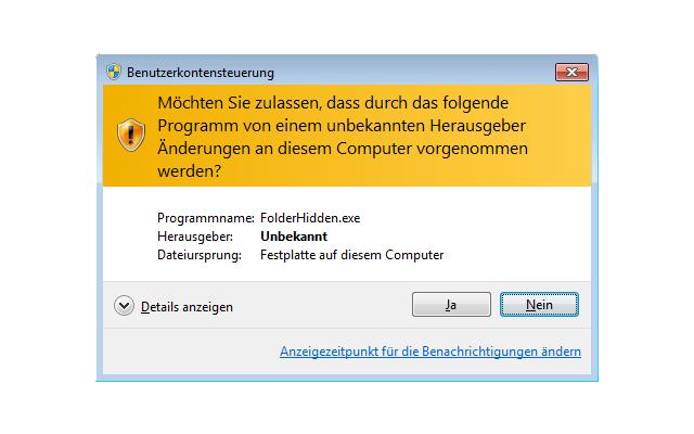 Benutzerkontensteuerung per Tastatur