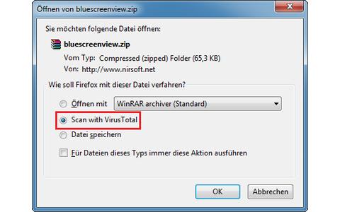 Viren-Check schon vor dem Download