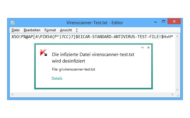 Virenscanner testen