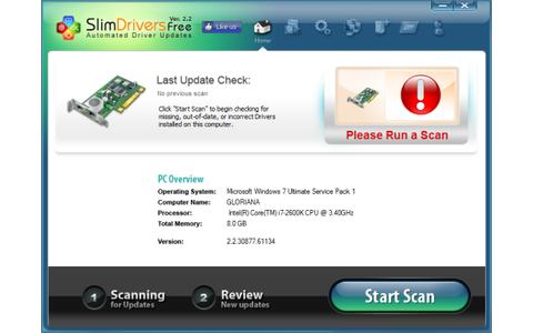 SlimDrivers Free vergleicht die Treiberangaben aus den Systeminformation von Windows mit online verfügbaren Treiber-Updates und installiert diese per Klick.