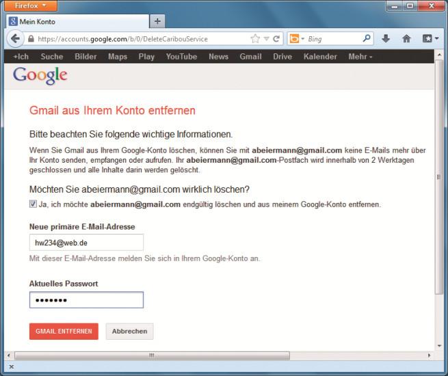 E Mail Adresse Gmail Löschen