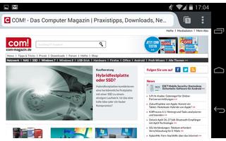Der Webbrowser Firefox unterstützt im Gegensatz zu Google Chrome auch auf Smartphones und Tablets die beliebten Browser-Erweiterungen.