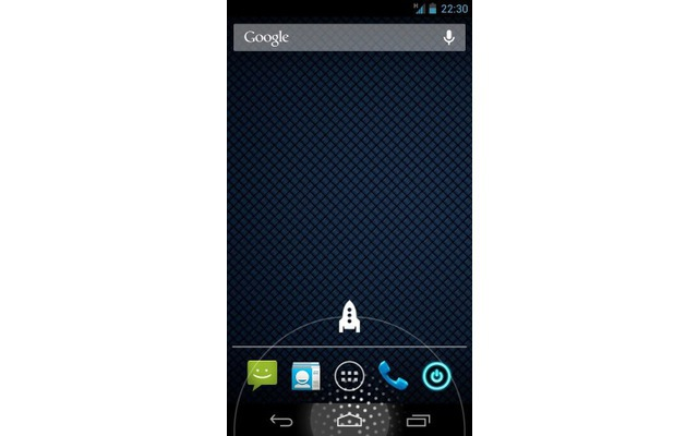 Der Home Button Launcher erweitert die Funktion des Home-Buttons. Mit einem Wisch über die mittlere Schaltfläche des Smartphones lassen sich Apps oder Shortcuts ausführen.