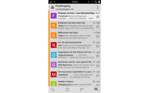 K-9 Mail ist ein E-Mail-Client für Android, der sich sowohl für IMAP- als auch für POP3-Konten eignet.