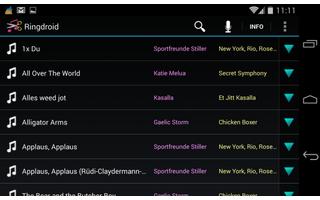 Langweilige Klingeltöne? Ringdroid macht Schluss damit. Die App erstellt persönliche Klingeltöne aus bereits vorgegebenen Sounddateien oder selbst aufgenommenen Audiodateien.