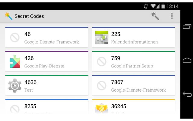 Spezielle Ziffern-Codes entlocken Android-Smartphone zusätzliche Infos und Funktionen, wenn man Sie über die Dialer-App des Telefons eingibt. Die App Secret Codes ermittelt, welche der gängigen Codes auf Ihrem Gerät verfügbar sind.