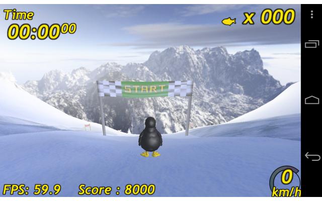 In Tux Rider rasen Sie als Pinguin eine Skipiste hinunter, sammeln Fische und versuchen, durch Tricks und Sprünge Ihren Highscore zu verbessern.