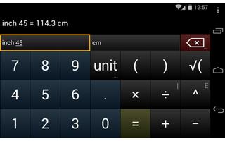 Units vereint einen Taschenrechner und einen praktischen Einheitenrechner. Die App kennt rund 2.400 verschiedene Einheiten und deren Umrechnungsfaktoren.
