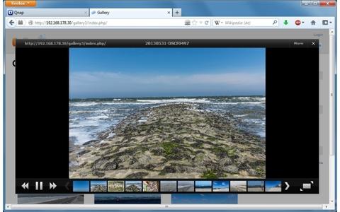 Gallery für Qnap - Die Open-Source-App unterstützt Sie beim Verwalten und Bearbeiten Ihrer Fotos auf dem Qnap-NAS. Ein schicker Bildbetrachter mit Diashow-Funktion ist natürlich auch mit an Bord.