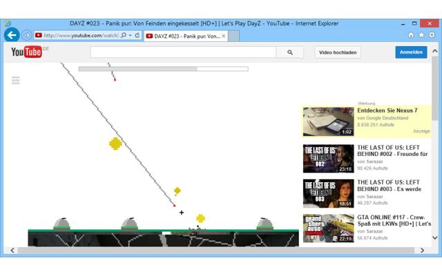 Der Spiele-Klassiker Missile Command ist in Youtube als Easter Egg zu finden. Tiuppen Sie während der Video-Wiedergabe einfach 1980 ein.