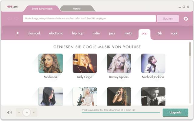 MP3jam durchsucht das Video-Portal Youtube nach Musik und speichert gefundene Titel oder komplette Alben als MP3-Dateien auf Ihrem PC.