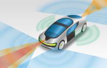Auto mit Laser-Sensoren