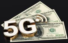 5G-Symbol auf Dollar-Scheinen