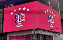 T-Mobile-Werbung auf dem Times Square