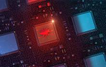 Bug auf Computer-Chip