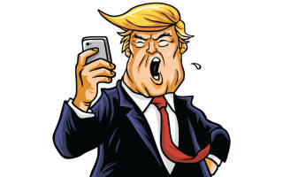 Angry Donald Trump with Smartphone