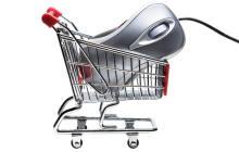 PC-Maus im Einkaufswagen